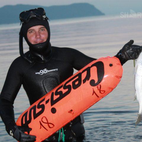 Подводная охота на лобана